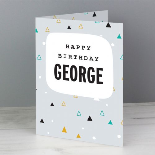 Geo Birthday Card